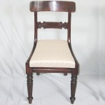 Late regency antique chair